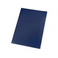 Папка- уголок, для формата А4, плотность 180 мкм, синий