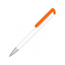 Ручка-подставка «Кипер», белый/оранжевый