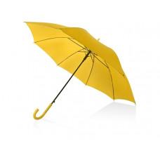 Зонт-трость полуавтоматический с пластиковой ручкой, желтый