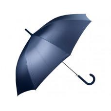Зонт-трость полуавтомат с прорезиненной ручкой, темно-синий
